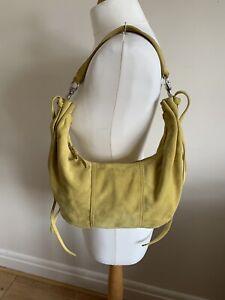 Authentic MIU MIU Sunflower Suede Shoulder Handbag Purse Hardly Used with COA