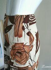 Marni Italy Midi Skirt Abstract Floral Autumn Leaves Geometric Print Linen Silk