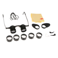 2.5X-15X Adjustable Glasses Binocular Low Vision Telescope with 5 Size Lens