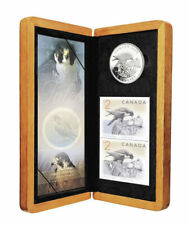 Canada 2006 $5 Peregrine Falcon Pure Silver Coin and Stamp Set Tax Exempt COA