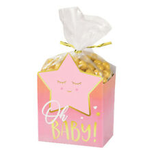 Baby Shower Hello World Girl Favor Boxes (8) ~ Party Supplies Treat Loot Goody
