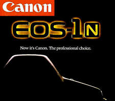 CANON EOS-1N & EOS-1N RS SLR 35mm CAMERA BROCHURE -CANON EOS1 N-from 1994