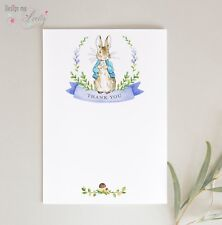 Peter Rabbit THANK YOU CARDS - Pack of 8 - BABY BOY - POSTCARDS NOTELETS