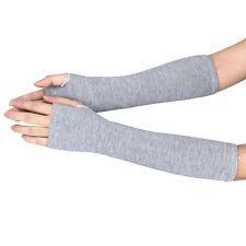 Winter Wrist Arm Hand Warmer Knitted Long Fingerless Gloves Mitten GY