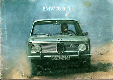 BMW 2000 Ti Saloon 1966-67 UK Market Sales Brochure