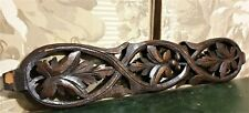 Grapes wine pierced wood carving pediment Antique french architectural salvage