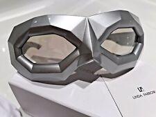 LINDA FARROW Walter Van Beirendonck Shiny Silver Diamond Mask Sunglasses WVB2