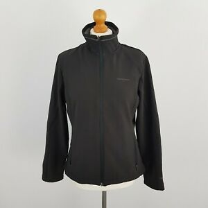 Craghoppers Womens Black Outdoor Windproof Jacket With Fleece Lining Size 14
