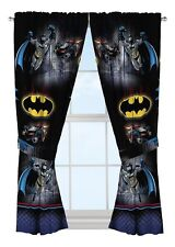 Warner Bros Batman 2pk Curtains 1x1.6m each Boys Drapes Panels NEW