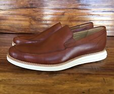 "Men's Cole Haan ""Lunargrand"" Loafers Shoes Brown Leather White Sole 8.5 M"