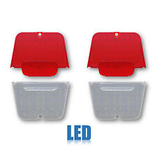62-64 Chevrolet Chevy II Nova Red LED Tail Light & Clear Back Up Lamp Lens Set