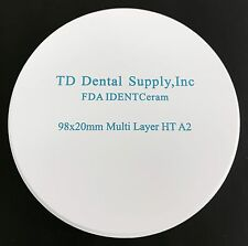 MULTI LAYER HT (98.5 x 20mm) Zirconia Disc