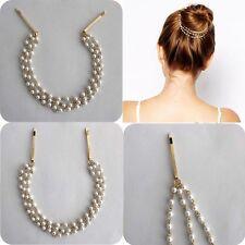 Rhinestone Headwear Accessories New Moon Shining Women Cute Hair Hairpin Clip