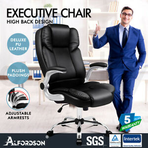 ALFORDSON Office Chair Executive Computer Gaming Racer PU Leather Work Seat