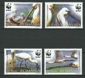 Rumänien 2006 Tiere Vögel Löffler WWF Postfrisch