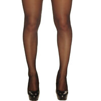 PLAIN BLACK STOCKINGS BURLESQUE FANCY DRESS GLAMOUR