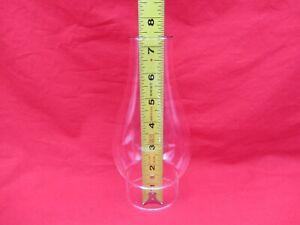 """VTG ANTIQUE GLASS OIL HURRICANE LAMP CHIMNEY GLOBE SHADE 7.5"""" TALL 2-1/2"""" BASE"""