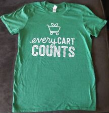 EVERY CART COUNTS Unisex T-shirt Size Small/S Vega Silk Earthbound Farm Preowned