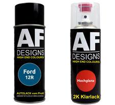 Autolack Spraydose Set Ford 12R Burma Blue Metallic 2k Klarlack Sprühdose 400ml