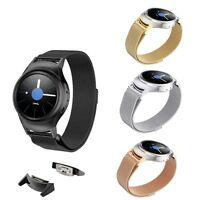 Stainless Magnetic Milanese Watch Band + Adapter For Samsung Gear S2 R730A R730T