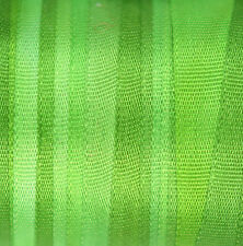 Silk Ribbon 7mm 100% Pure Embroidery Green - Hand Dyed Mantis - 3mtr