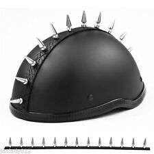 "CHROME / METAL Helmet Spike Strip 1 1/8"" Spikes, Warhawk / Mohawk  / 16 INCH"