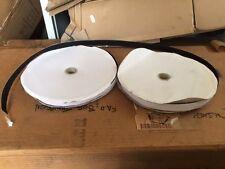 Self Adhesive Sticky Backed Hook and Loop Tape, Black 20mm 12 Meters