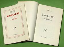 MORAND (P.). Monplaisir ... en littérature ... en histoire - E.-O. -Grand papier