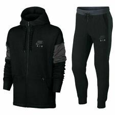 Nike Air Para Hombre NSW Polar Chándal Completo Chaqueta Con Capucha Pantalones Chándal Negro
