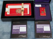 """ST.DUPONT 2004 RED """"OPUS X"""" LINE 2 LIGHTER AND ASHTRAY SET, MATCHING NUMBERS!!!"""