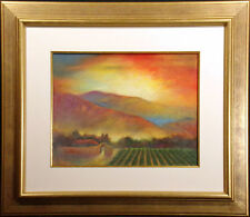 Kevin Zuckerman Unittled Original Pastel Drawing New Mexico farmscape MAKE OFFER