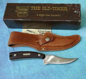 SCHRADE USA Old Timer Sharpfinger Knife 152OT NEW High Carbon Hunting Sheath Box