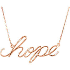 """Diamond Hope 16.8"""" Necklace In 14K Rose Gold"""