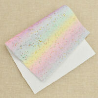 1 Sheet Glitter Synthetic Leather Fabric DIY Wrap Material Sewing Accessories