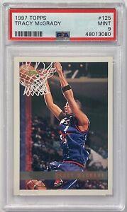 1997 Topps Basketball Tracy McGrady ROOKIE RC #125 PSA 9 MINT