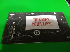 VINTAGE  CHICK TRACT This Was Your Life! Jack Chick Publications