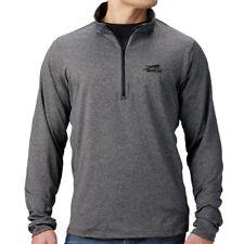 Arctic Cat Men's Lightweight 1/4 Zip Polyester Mid-Layer - Black Gray 5303-00_