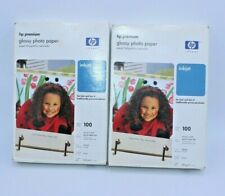 """New! HP Premium Plus Glossy Photo Paper 100-4x6"""" Perforated Tab Sheets  2"""