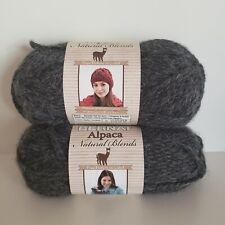 Bernat Alpaca Natural Blends Yarn Designer Yarn Lot of 2 Skeins Color Ebony New