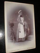 Old cabinet photograph Nurse by Varney at Buckingham c1890s