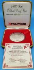 SINGAPORE 1988 *YEAR of the DRAGON* SILVER COMMEMORATIVE KM#69a GEM PROOF ~BX02