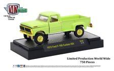 ^^L113 32500 48 M2 MACHINES AUTO TRUCKS 1972 Ford F 100 Custom 4x4  GREEN  CHASE