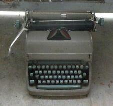 Vintage Remington Rand Standard Desktop Typewriter Super-Riter Beige c.1950s