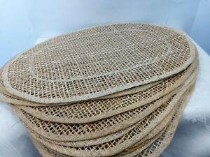 Placemats Woven Oval Raffia Jute Natural Boho Style Set of 12