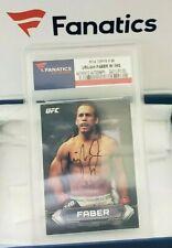 UFC Topps Fanatics Authentic Certified Urijah Faber Autograph Sports Card