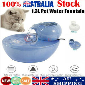 1.3L Pet Water Fountain Dog Cat Drinking Bowl Automatic Electric Feeder