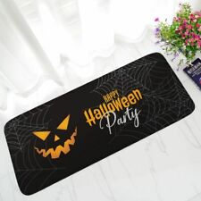 Happy Halloween Ghost Rugs Home Decor Party Flannel Anti-skid Area Rug Bathroom