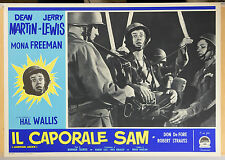 FOTOBUSTA 3, IL CAPORALE SAM Jumping Jacks JERRY LEWIS, COMICO, MOVIE POSTER
