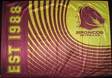NRL BRISBANE BRONCOS FLAG Game Day 900mm x 600mm  on Stick -NEW