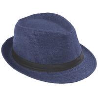 Retro Unisex Fedora Trilby Gangster Cap Summer Beach Sun Straw Panama Hat Sunhat